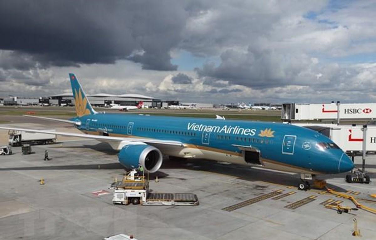 Máy bay Boeing 787-9 Dreamliner của Vietnam Airlines. (Ảnh: Đỗ Sinh/TTXVN)