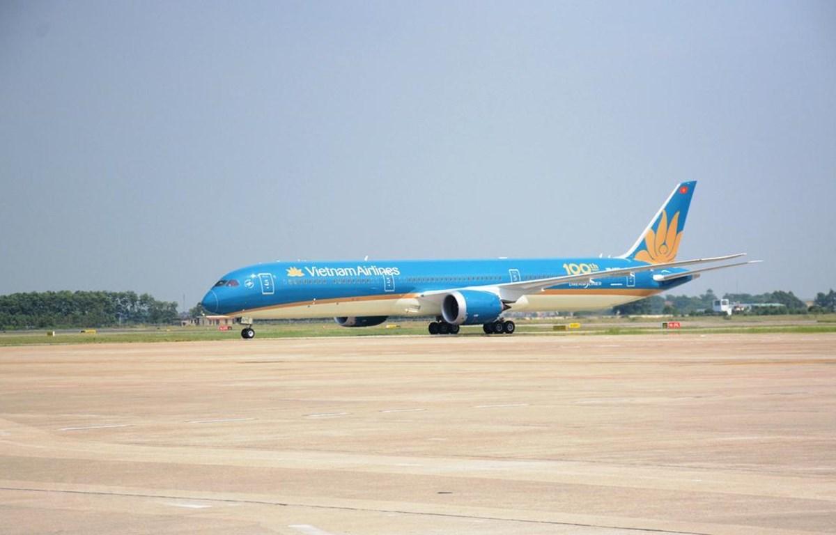 Máy bay Boeing 787-10 của hãng hàng không Vietnam Airlines. (Ảnh: Việt Hùng/Vietnam+)