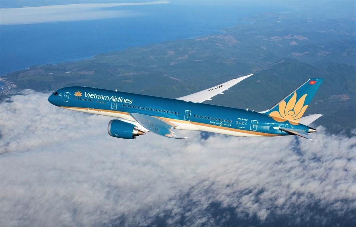 Tàu bay thân rộng Boeing 787-9 Dreamliner của hãng hàng không Vietnam Airlines. (Ảnh: CTV/Vietnam+)