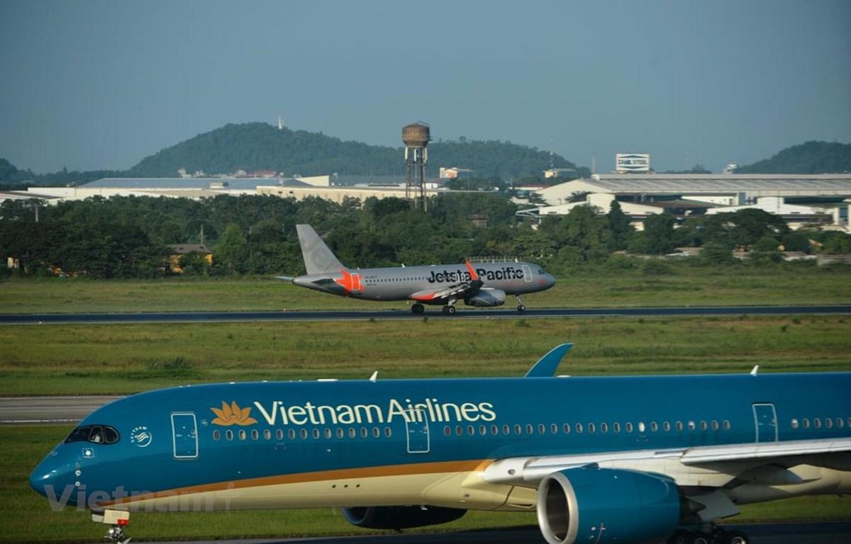 Vietnam Airlines Group khôi phục toàn bộ đường bay nội địa từ tháng Sáu. (Ảnh: Hoàng Anh/Vietnam+)