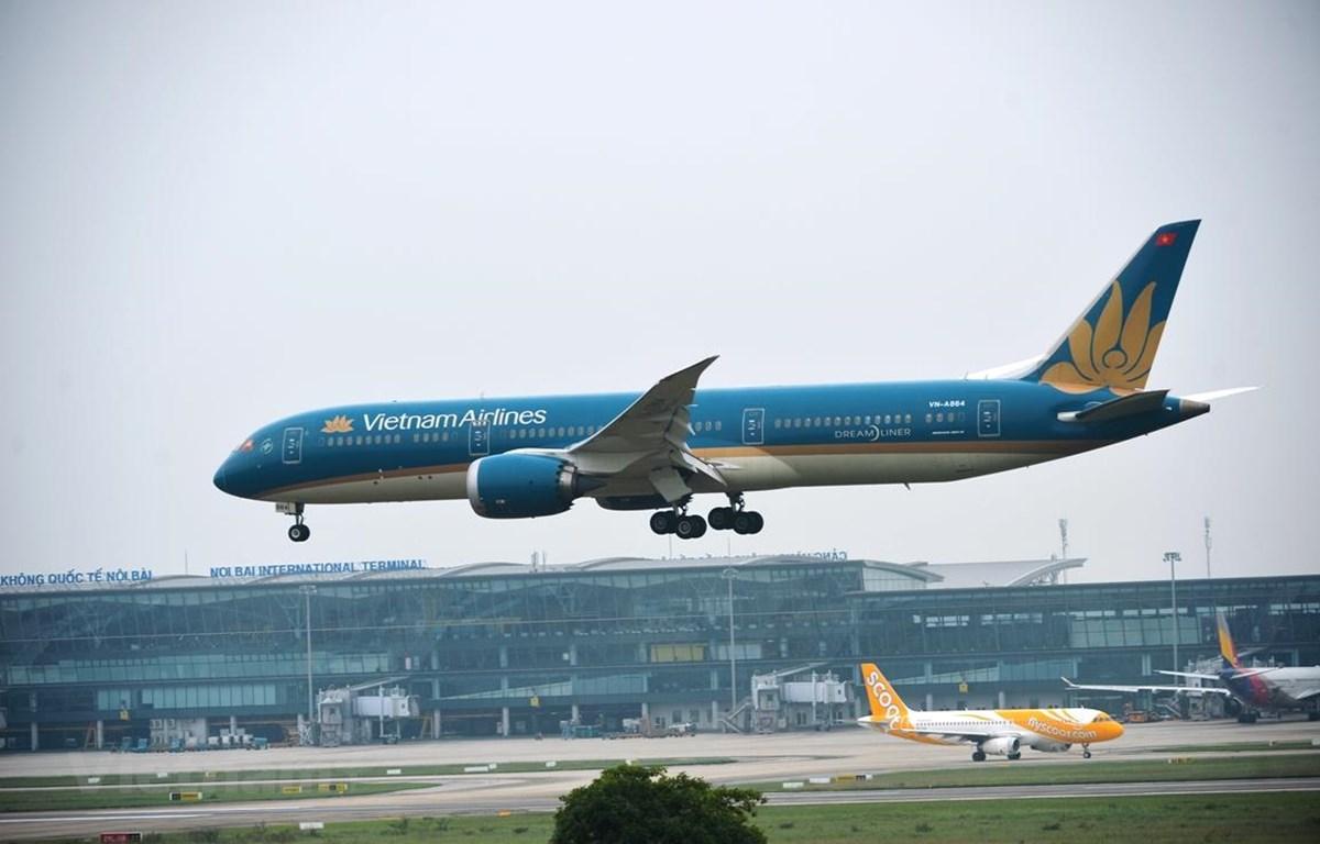 Máy bay của hãng hàng không Vietnam Airlines. (Ảnh: Hoàng Anh/CTV Vietnam+)