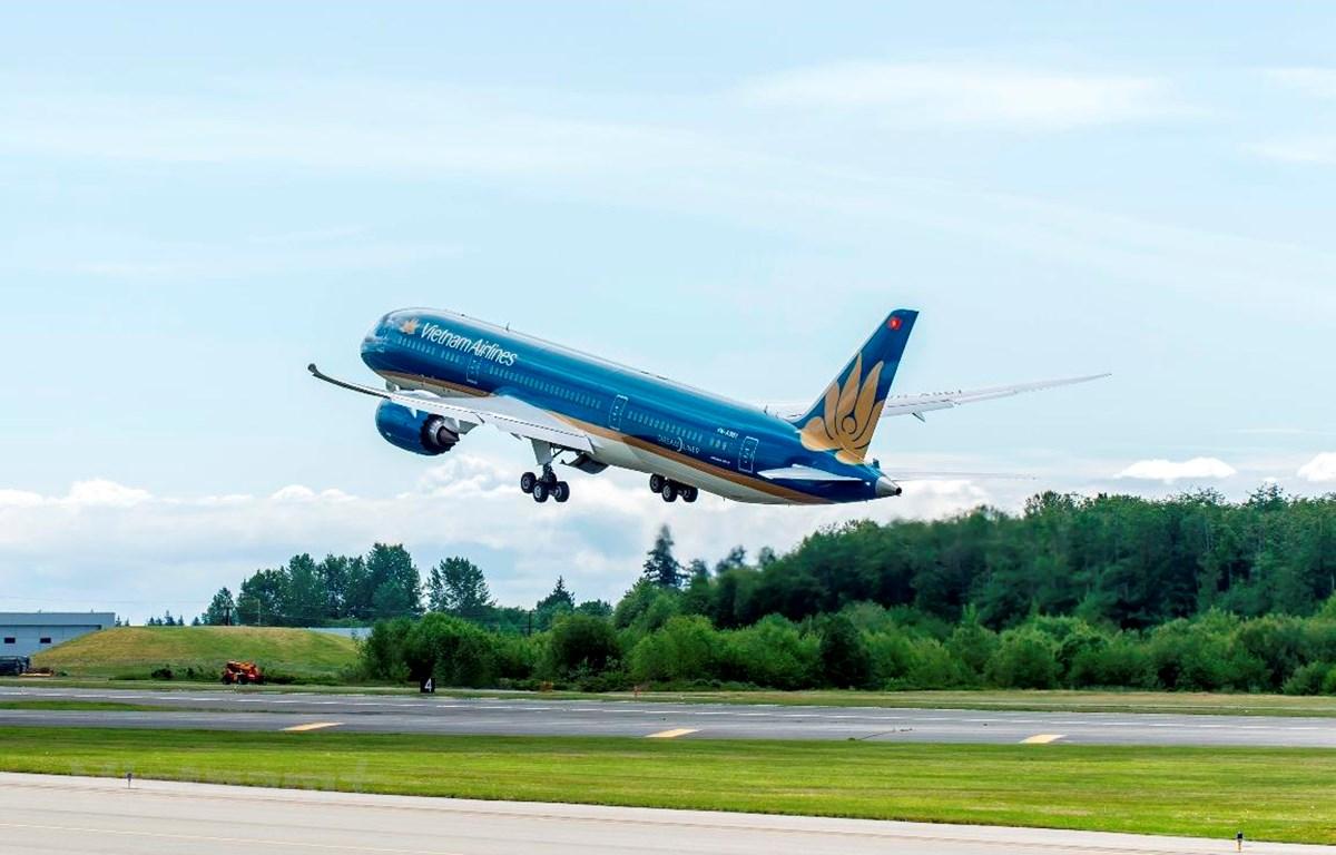 Vietnam Airlines khôi phục lại hoàn toàn số chuyến bay nội địa, chờ mở bay quốc tế sau dịch COVID-19 (Ảnh: CTV/Vietnam+)