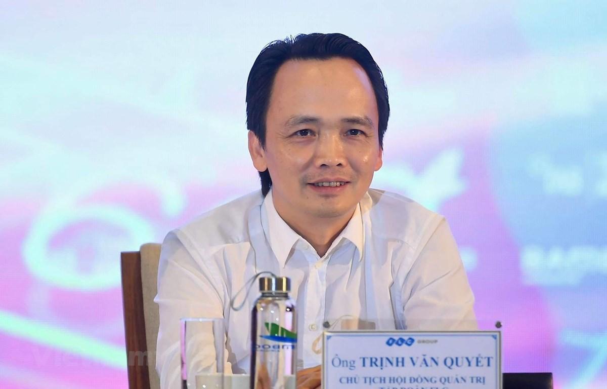 Ông Trịnh Văn Quyết, Chủ tịch Tập đoàn FLC và hãng hàng không Bamboo Airways. (Ảnh: Hoàng Anh/Vietnam+)
