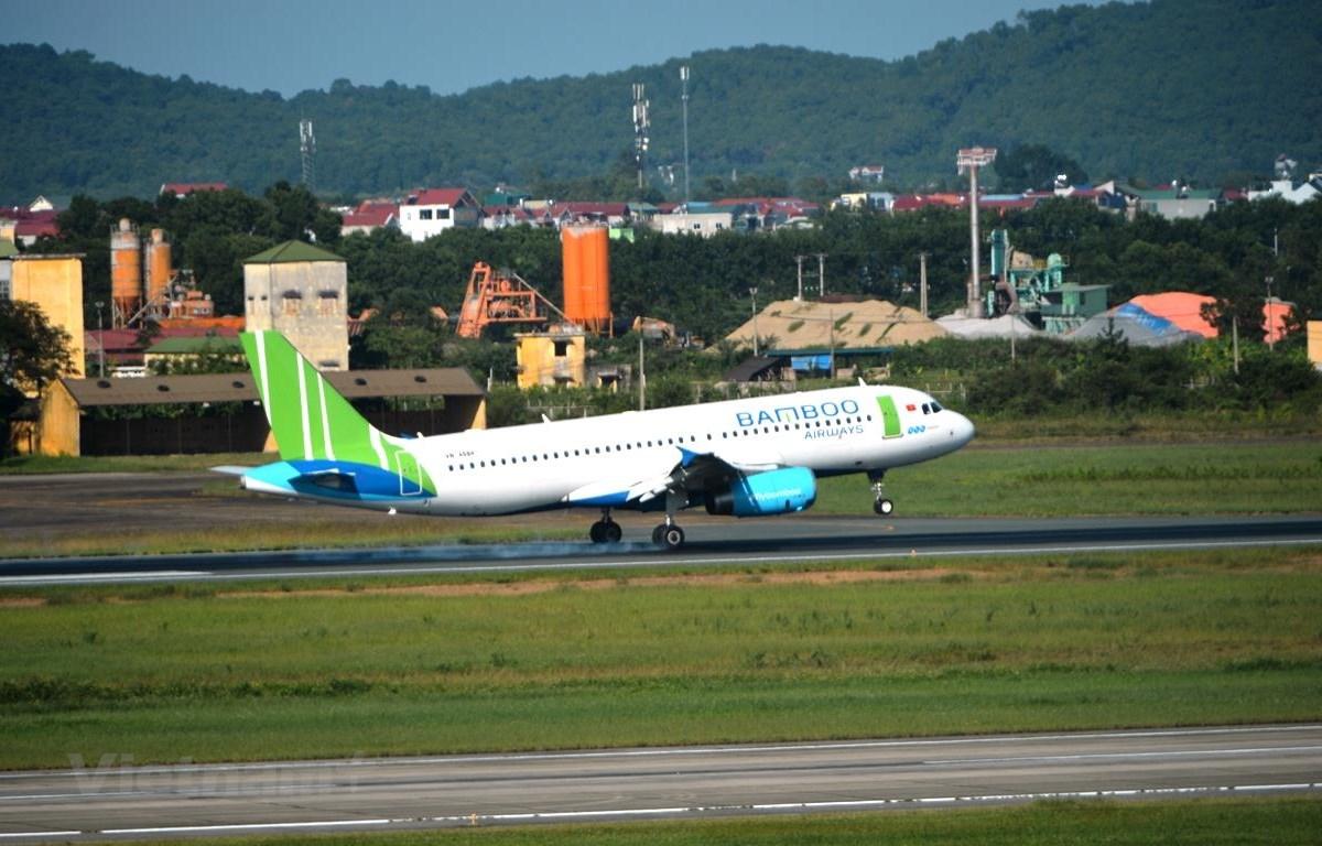 Máy bay của hãng hàng không Bamboo Airways. (Ảnh: Hoàng Anh/Vietnam+)