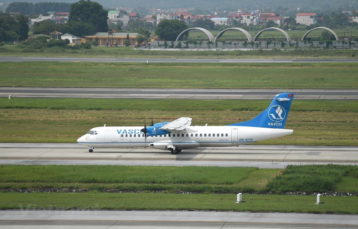 Vietnam Airlines mở thêm đường bay mới Hải Phòng-Điện Biên được khai thác bằng máy bay ATR72. (Ảnh: Hoàng Anh/Vietnam+)