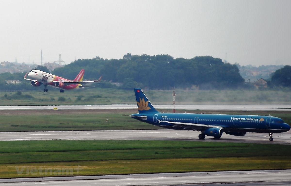 Các hãng hàng không liên tục mở thêm nhiều đường bay nội địa sau khi dịch COVID-19 được kiểm soát. (Ảnh: Hoàng Anh/Vietnam+)