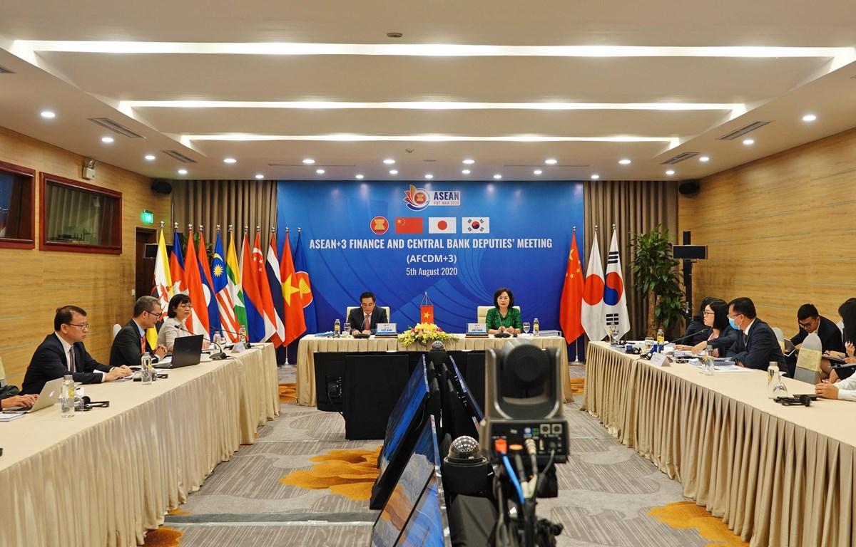 Hội nghị Thứ trưởng Tài chính và Phó Thống đốc Ngân hàng Trung ương ASEAN+3, ngày 5/8. (Ảnh: Vietnam+)