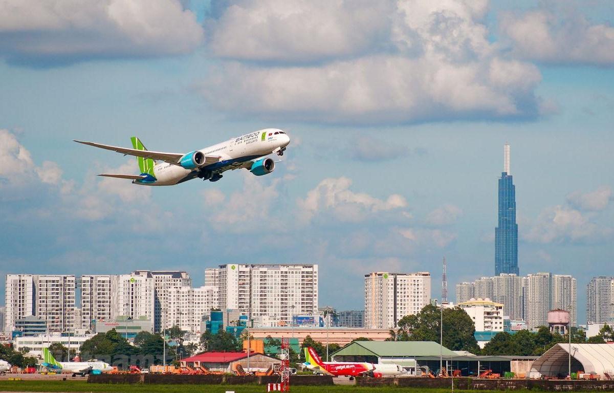 Bamboo Airways sẽ mở rộng thêm đội tàu bay và đường bay mới trong thời gian tới. (Ảnh: CTV/Vietnam+)