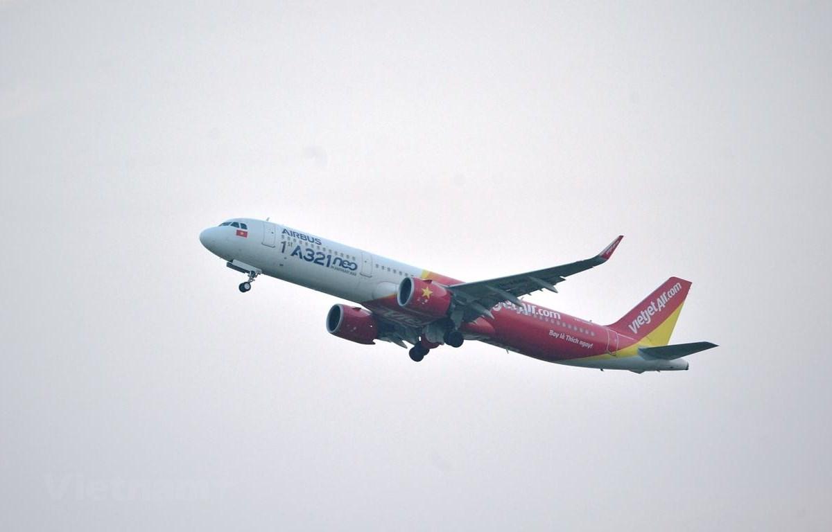 Máy bay của hãng hàng không Vietjet Air. (Ảnh: CTV/Vietnam+)