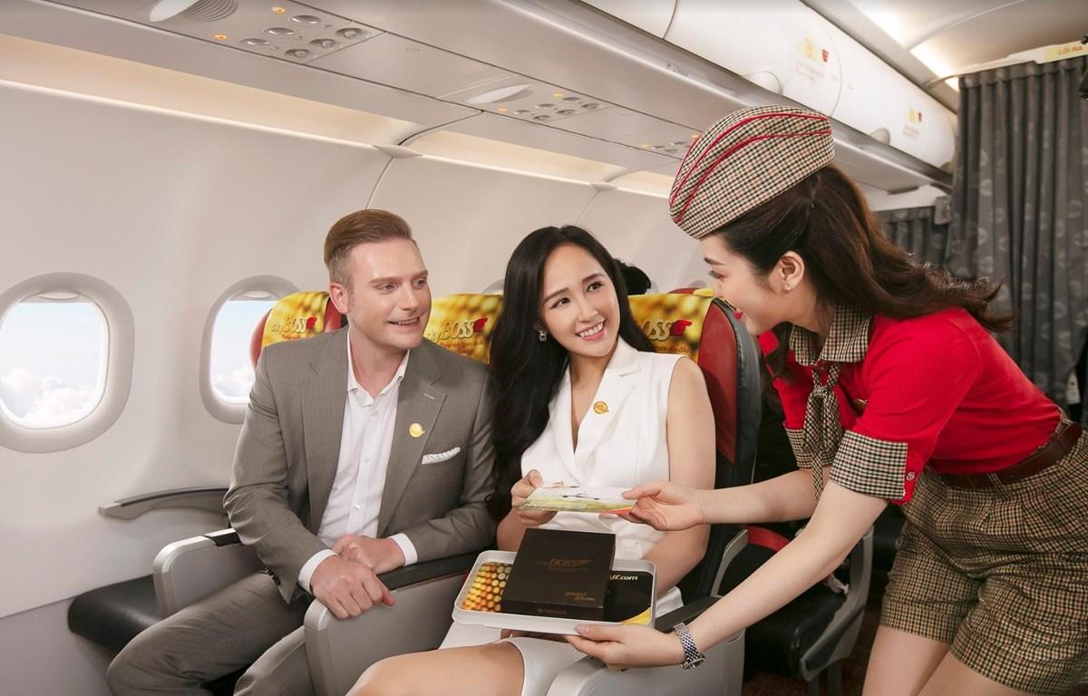 Lựa chọn SkyBoss, khách sẽ được phục vụ nhiều dịch vụ bay ưu tiên và chất lượng cao. (Ảnh: T.T)