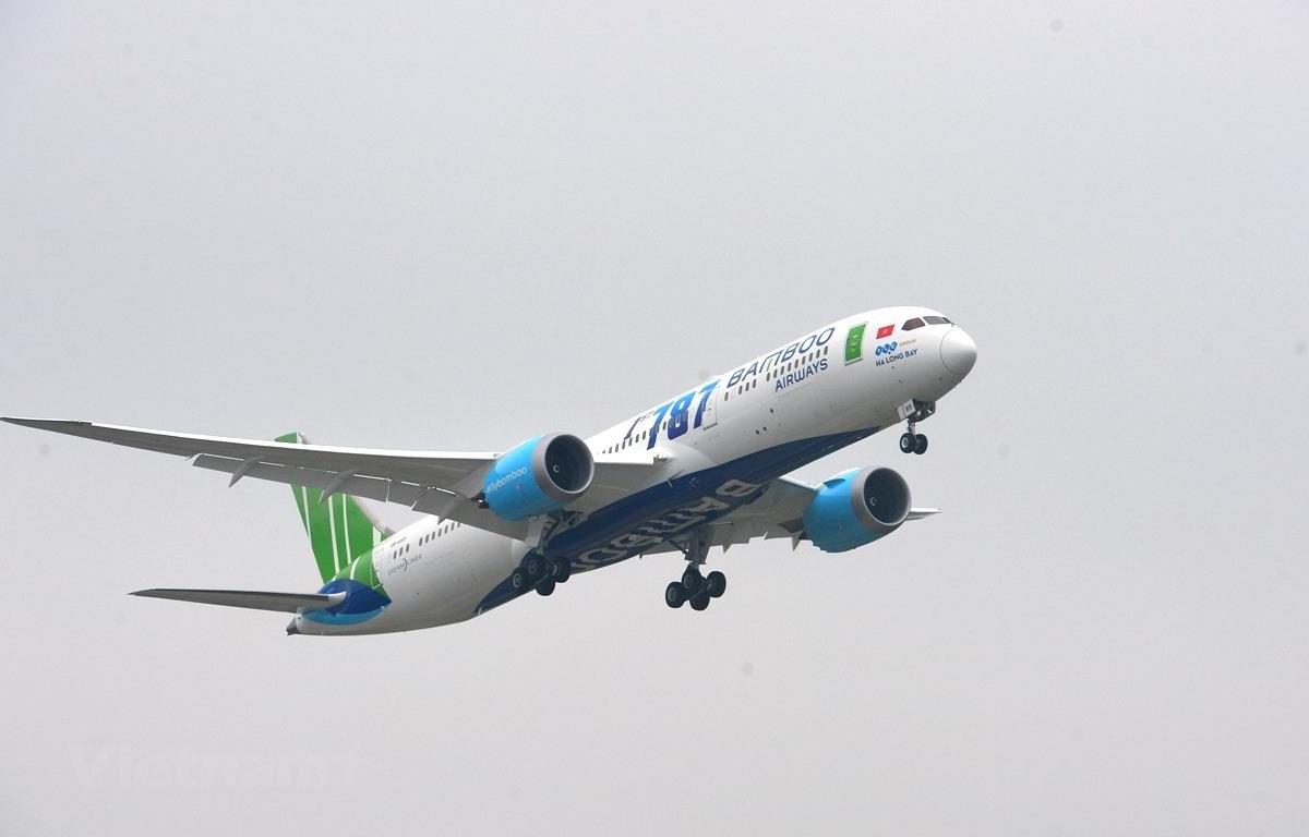 Máy bay của hãng hàng không Bamboo Airways. (Ảnh: CTV/Vietnam+)