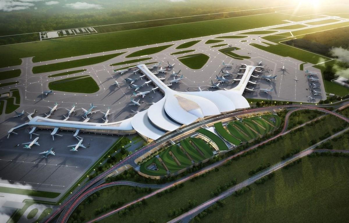 Phối cảnh Cảng hàng không quốc tế Long Thành. (Ảnh: Tổng công ty Cảng hàng không Việt Nam)