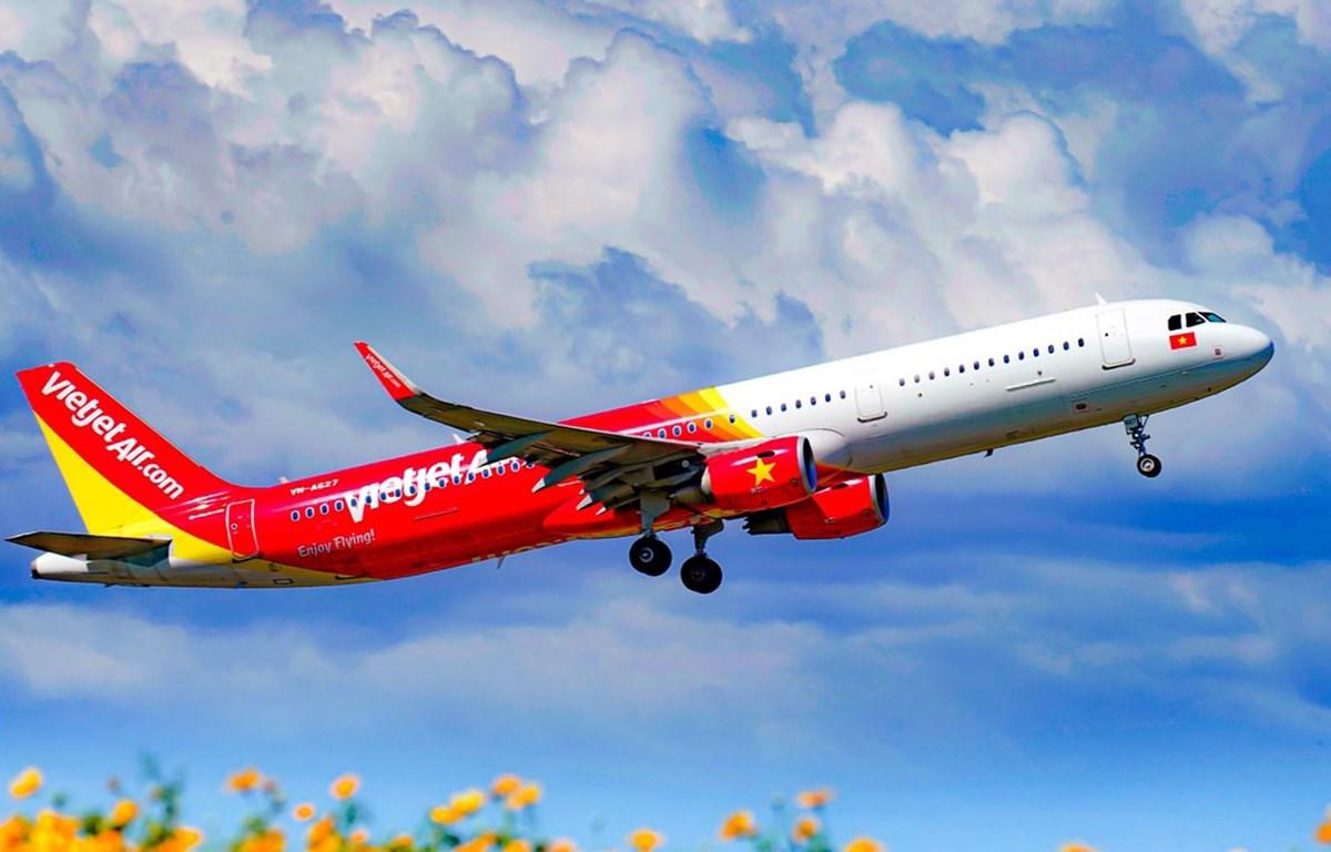 Vietjet là một trong số ít hãng hàng không trên thế giới có lợi nhuận trong năm 2020. (Ảnh: CTV/Vietnam+)