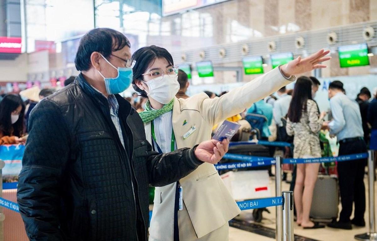 Bamboo Airways hiện đang áp dụng bộ quy trình phòng chống COVID-19 toàn diện và hiệu quả. (Ảnh: CTV/Vietnam+)