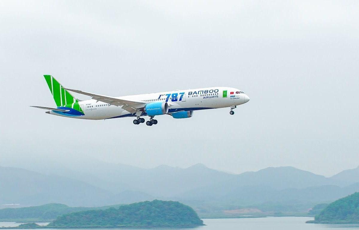 Dòng máy bay thân rộng hiện đại Boeing 787-9 Dreamliner sẽ được hãng triển khai khai thác trên đường bay tới Anh. (Ảnh: CTV/Vietnam+)