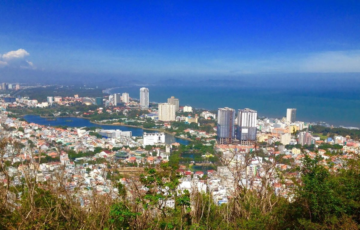 Thành phố Vũng Tàu - một điểm du lịch biển thu hút du khách trong dịp này. (Nguồn ảnh: Huyền Minh)