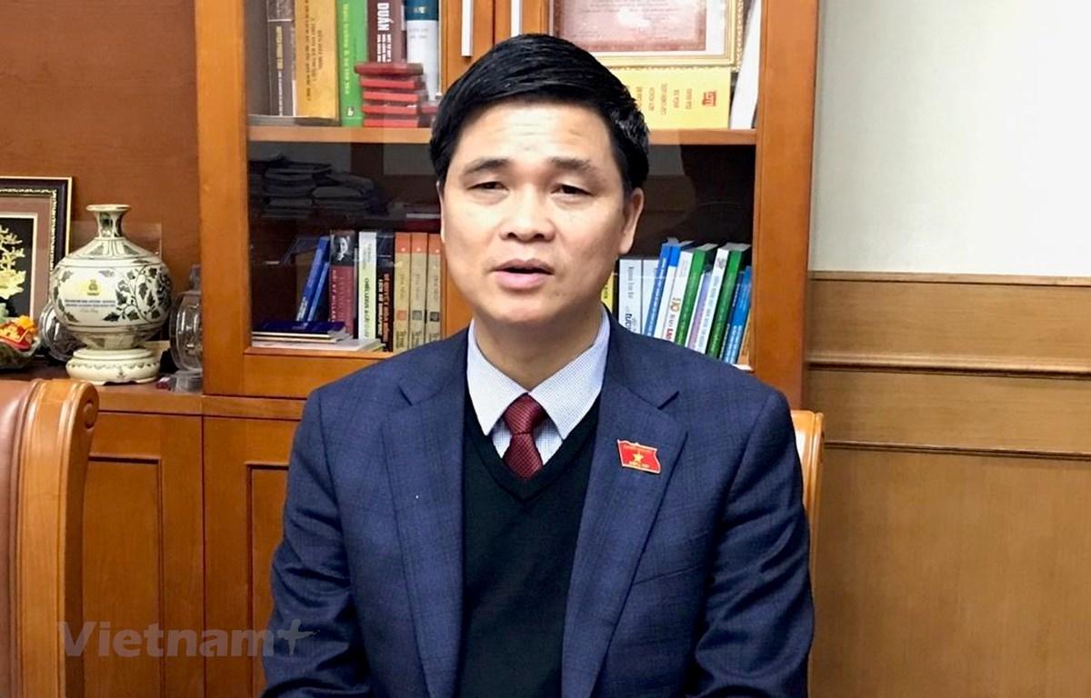 Ông Ngọ Duy Hiểu, đại biểu Quốc hội khóa XIV, Phó Chủ tịch Tổng liên đoàn Lao động Việt Nam. (Ảnh: Xuân Quảng/Vietnam+)