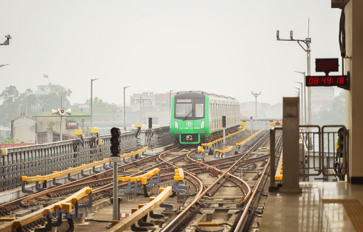 Dự án đường sắt đô thị Cát Linh-Hà Đông sử dụng công nghệ và tiêu chuẩn của Trung Quốc. (Ảnh: CTV/Vietnam+)