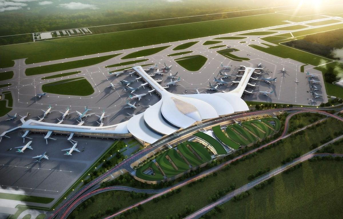 Phối cảnh nhà ga hành khách sân bay Long Thành. (Ảnh: CTV/Vietnam+)