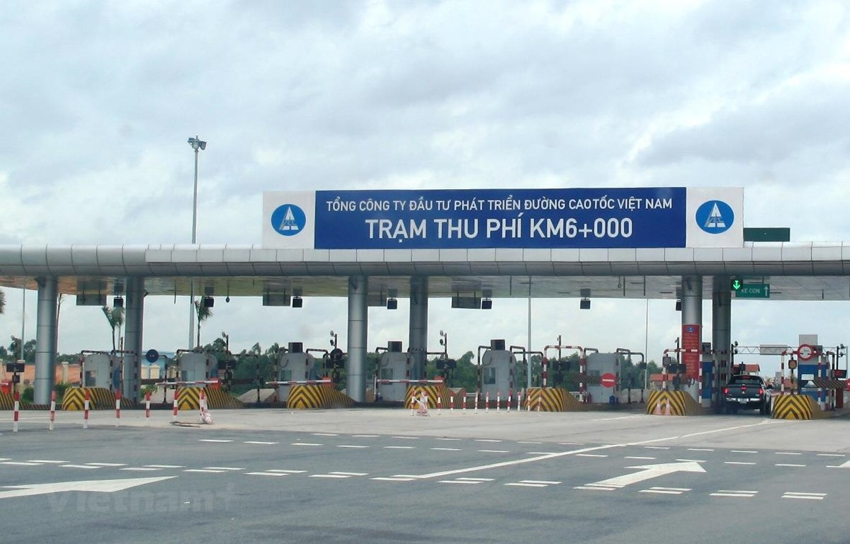 Trạm thu phí Km6 cao tốc Nội Bài-Lào Cai. (Ảnh: Việt Hùng/Vietnam+)