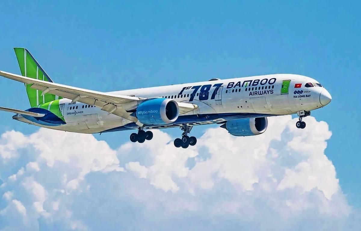Dòng máy bay Boeing 787-9 sẽ được Bamboo Airways lựa chọn để bay thẳng từ Việt Nam tới Mỹ. (Ảnh: CTV/Vietnam+)