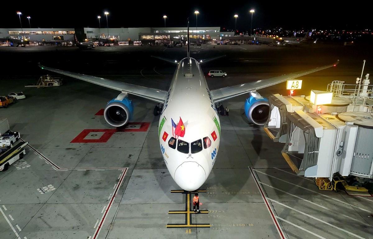 Bamboo Airways đã thực hiện chuyến bay khứ hồi Hà Nội-San Francisco-Hà Nội. (Ảnh: CTV/Vietnam+)