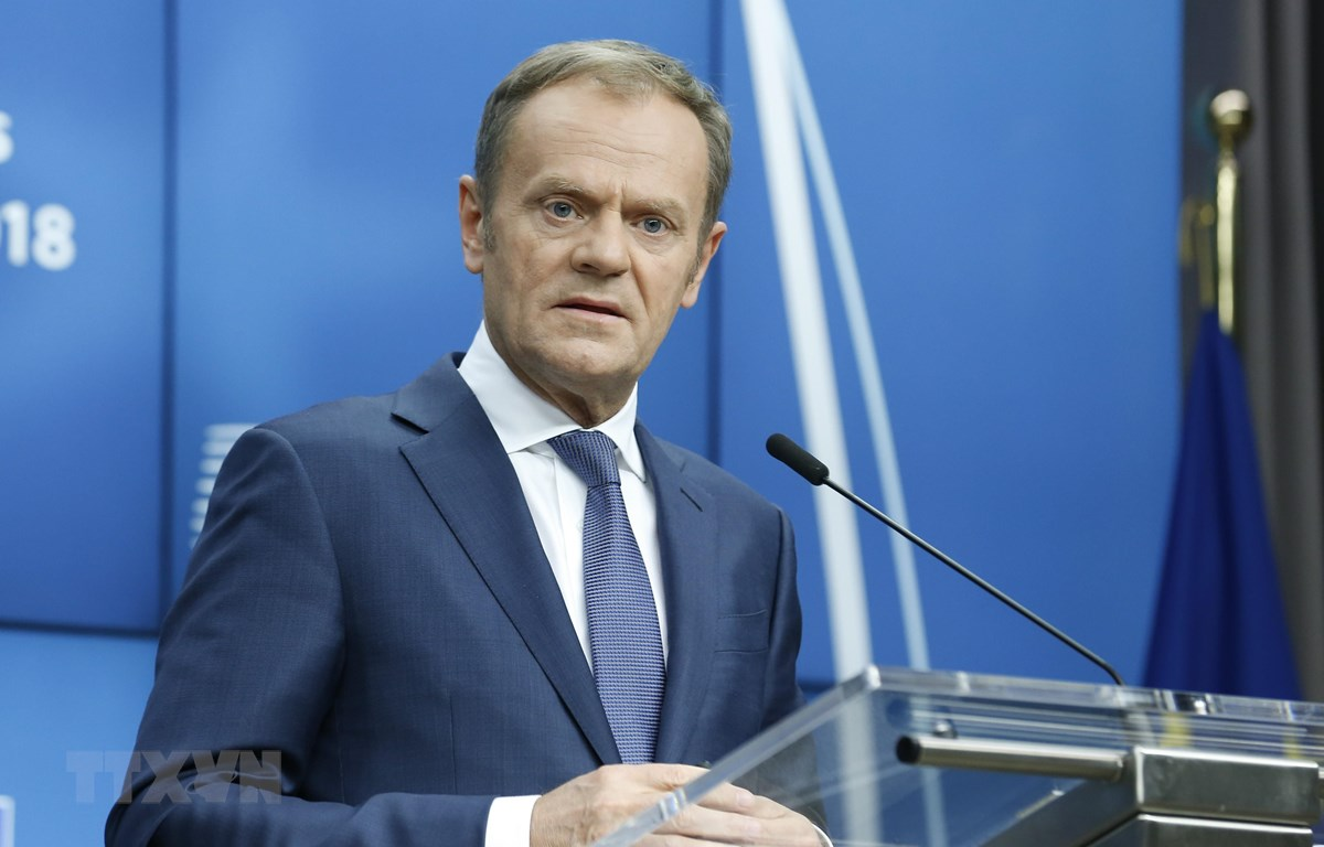 Chủ tịch Hội đồng châu Âu Donald Tusk. (Nguồn: AFP/TTXVN)