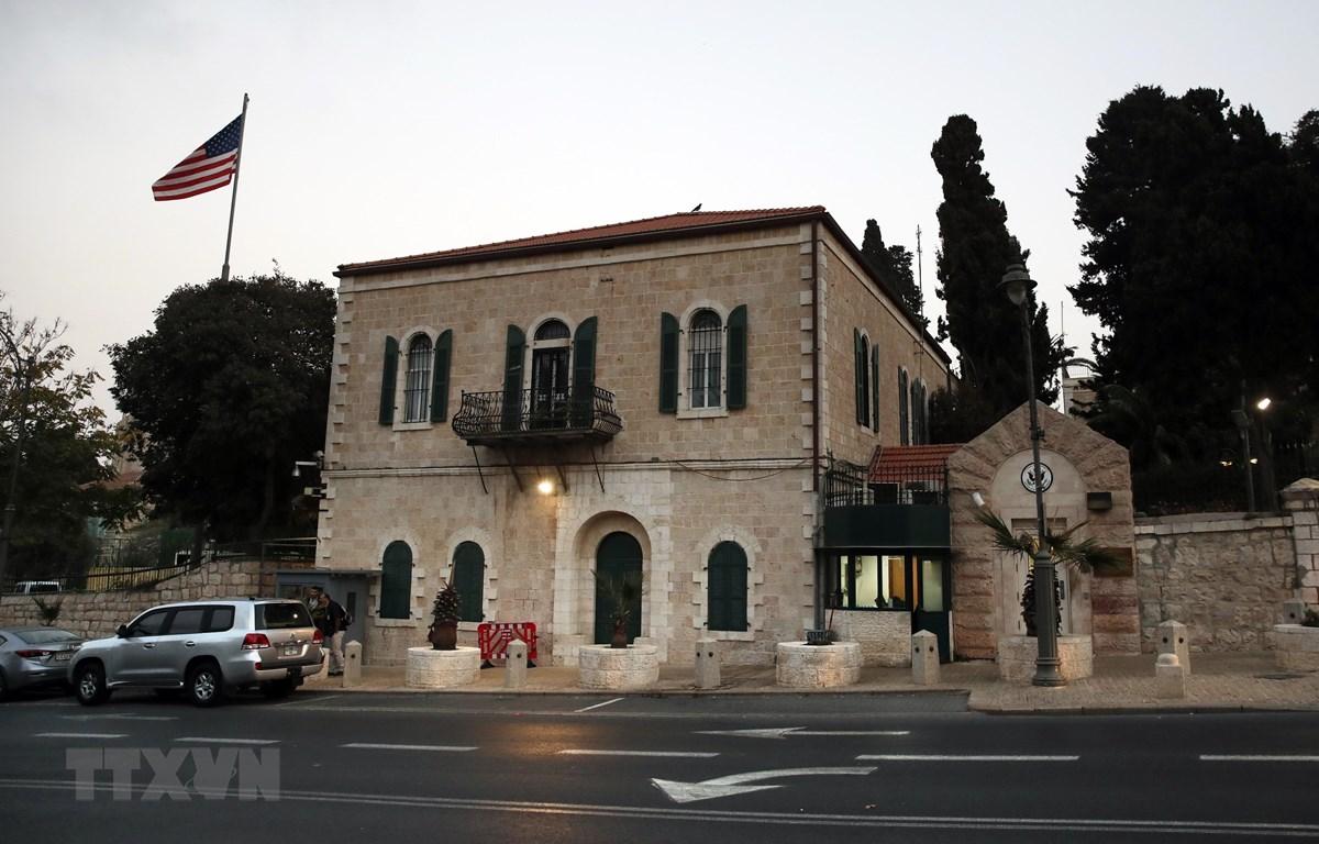 Tòa lãnh sự quán Mỹ ở Jerusalem tháng 10/2018. (Ảnh: AFP/TTXVN)