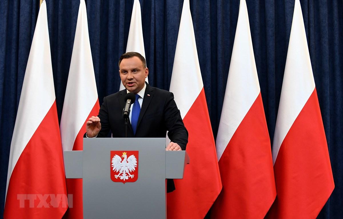 Tổng thống Ba Lan Andrzej Duda. (Nguồn: AFP/TTXVN)
