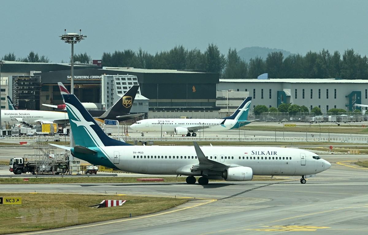 Máy bay Boeing 737 MAX tại sân bay quốc tế ở Singapore ngày 12/3/2019. (Ảnh: AFP/TTXVN)