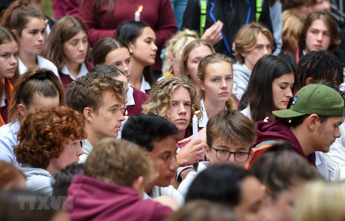 Tưởng niệm các nạn nhân trong vụ xả súng tại Christchurch, New Zealand, ngày 18/3/2019. (Ảnh: THX/TTXVN)