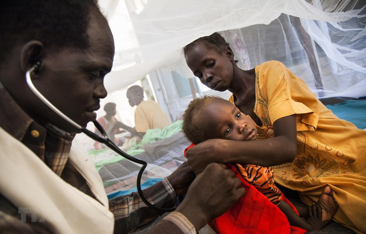 Bệnh nhân lao điều trị tại một bệnh viện ở Malakal, Nam Sudan. (Ảnh: AFP/TTXVN)