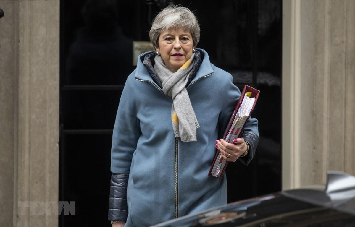 Thủ tướng Anh Theresa May tại thủ đô London ngày 20/3/2019. (Ảnh: THX/TTXVN)