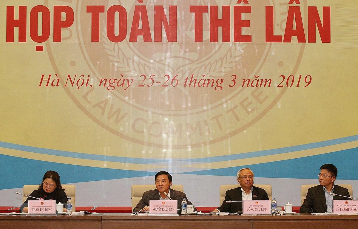 Phó Chủ tịch Quốc hội Uông Chu Lưu tham dự phiên họp. (Ảnh: Nguyễn Dân/TTXVN)