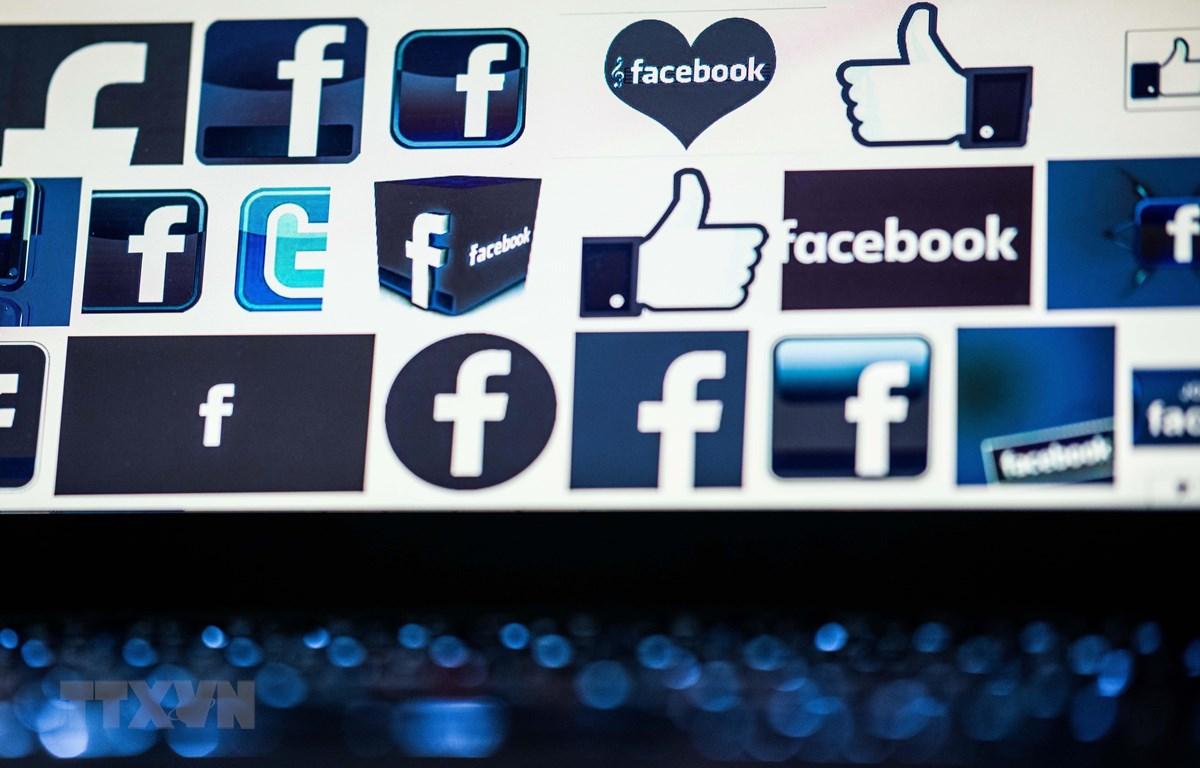 Biểu tượng của mạng xã hội Facebook. (Nguồn: AFP/TTXVN)