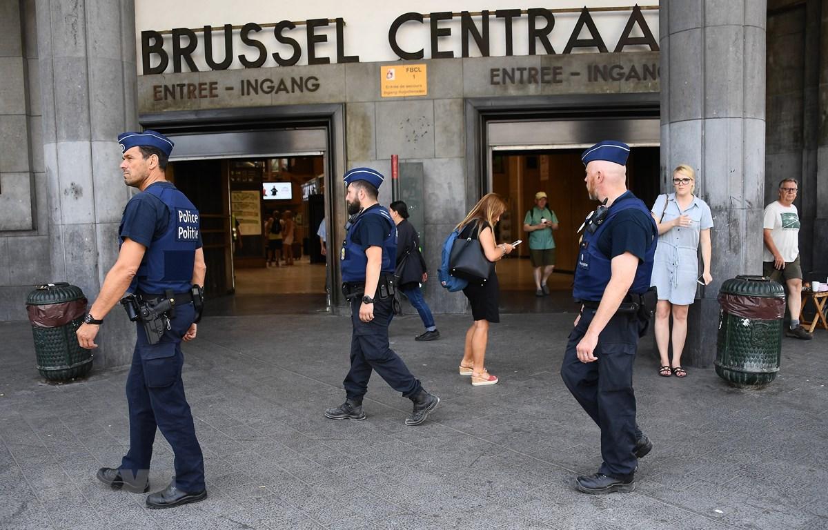 Cảnh sát Bỉ tuần tra tại Brussels. (Ảnh: AFP/TTXVN)