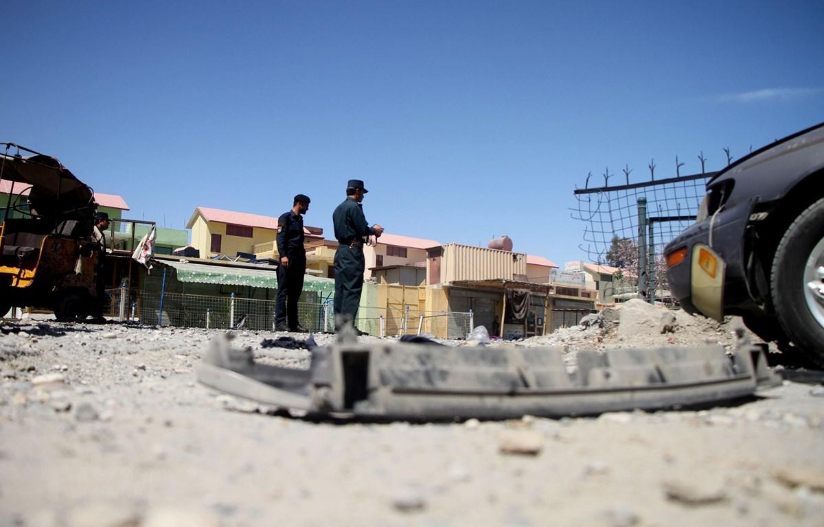 Hiện trường một vụ nổ ở Jalalabad, tỉnh Nangarhar. Ảnh minh họa. (Nguồn: THX/TTXVN)
