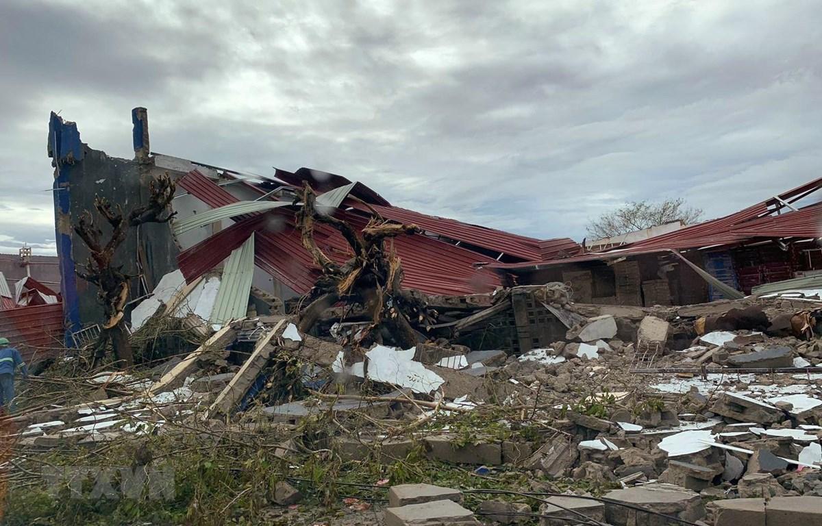 Cảnh đổ nát sau bão Idai tại khu vực Beira, Mozambique, ngày 18/3/2019. (Ảnh: AFP/TTXVN)
