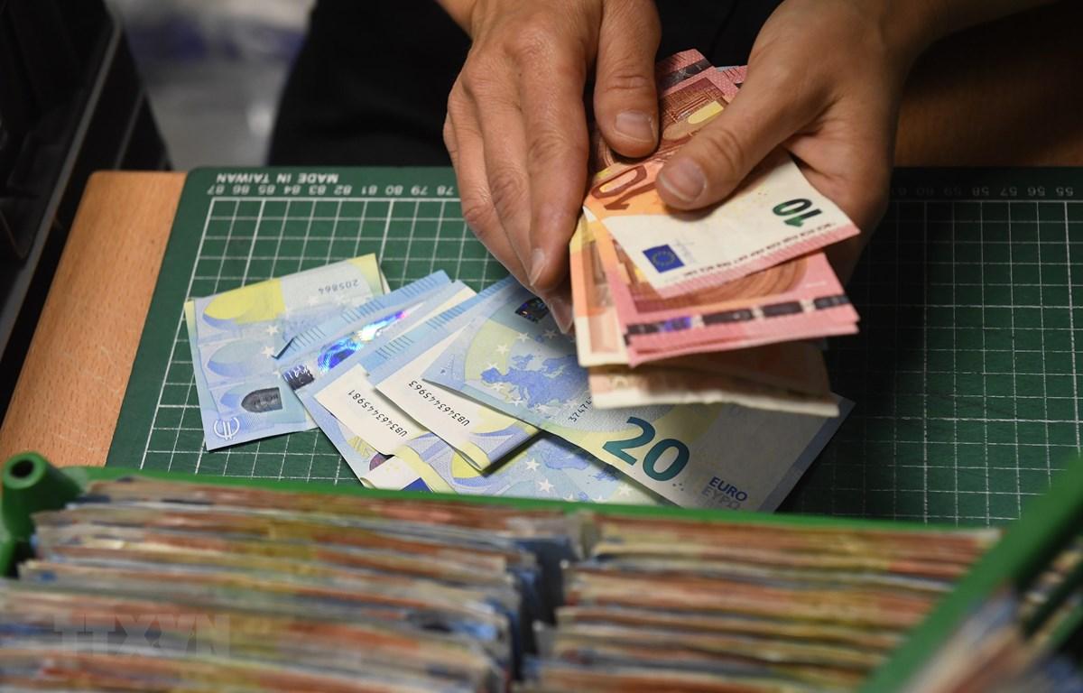 Đồng euro. Ảnh minh họa. (Nguồn: AFP/TTXVN)