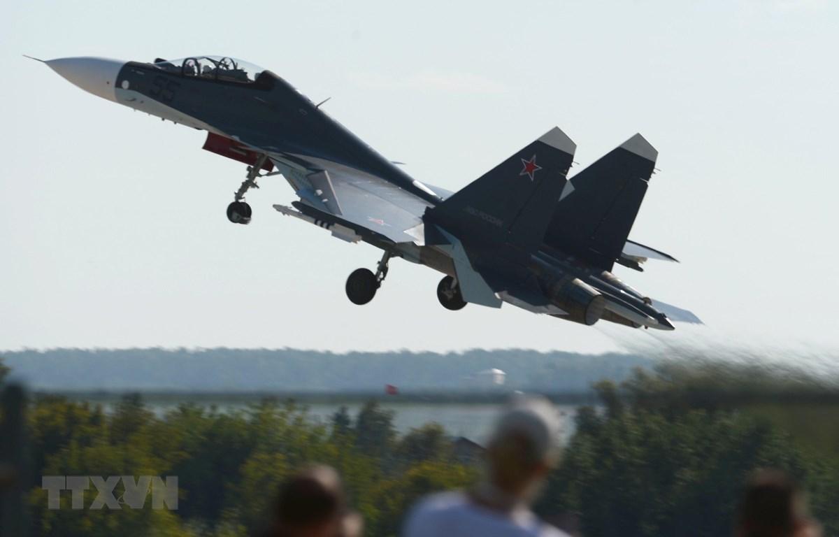 Máy bay tiêm kích Su-30SM của Nga. (AFP/TTXVN)