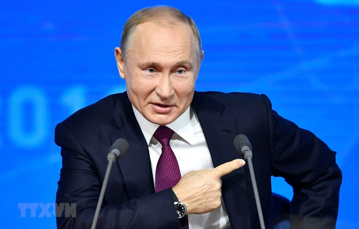 Tổng thống Nga Vladimir Putin. (Ảnh: AFP/ TTXVN)