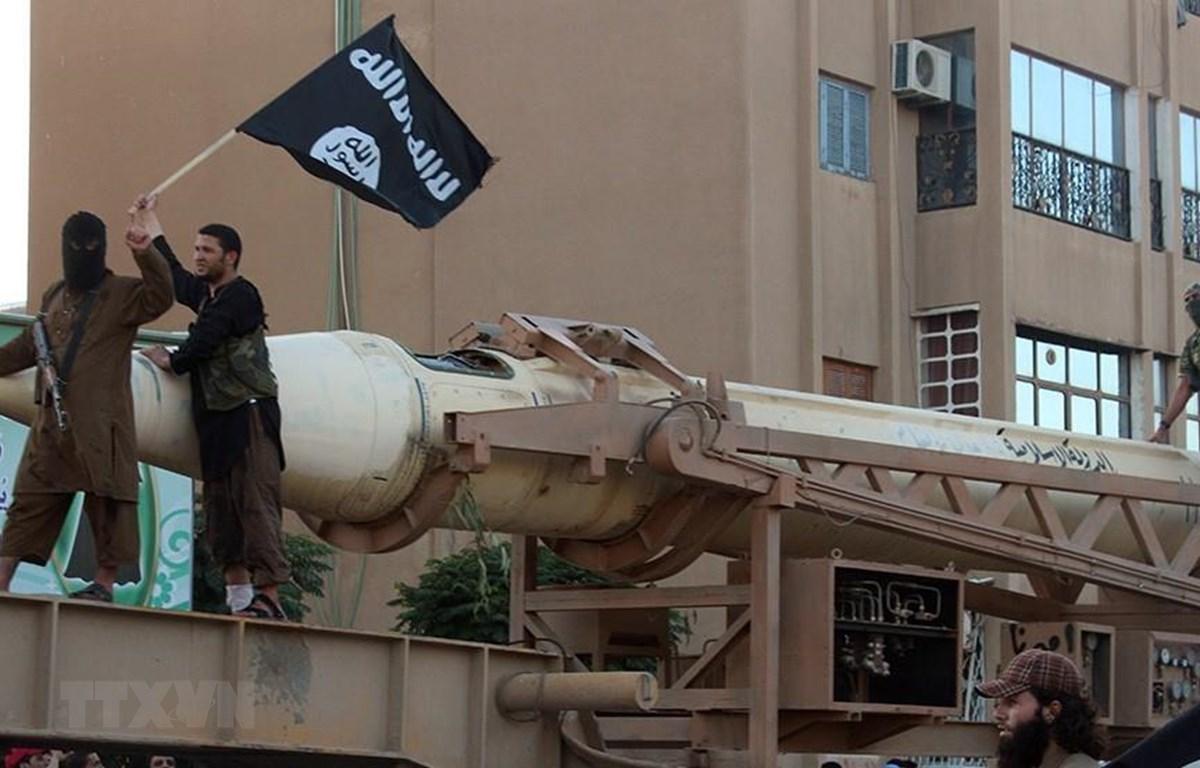 Các tay súng IS tại thành phố Raqa, Syria, ngày 30/6/2014. (Ảnh: AFP/ TTXVN)
