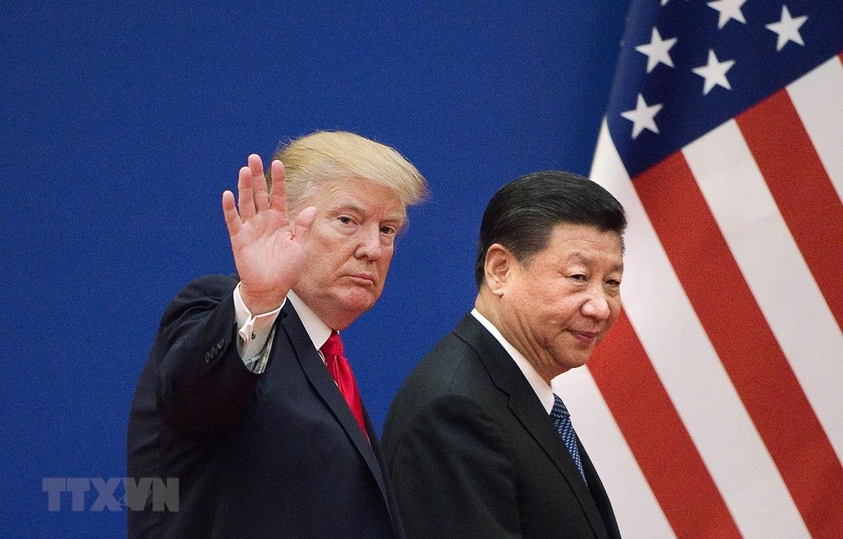 Tổng thống Mỹ Donald Trump (trái) trong cuộc gặp Chủ tịch Trung Quốc Tập Cận Bình tại Bắc Kinh ngày 9/11/2017. (Ảnh: AFP/TTXVN)
