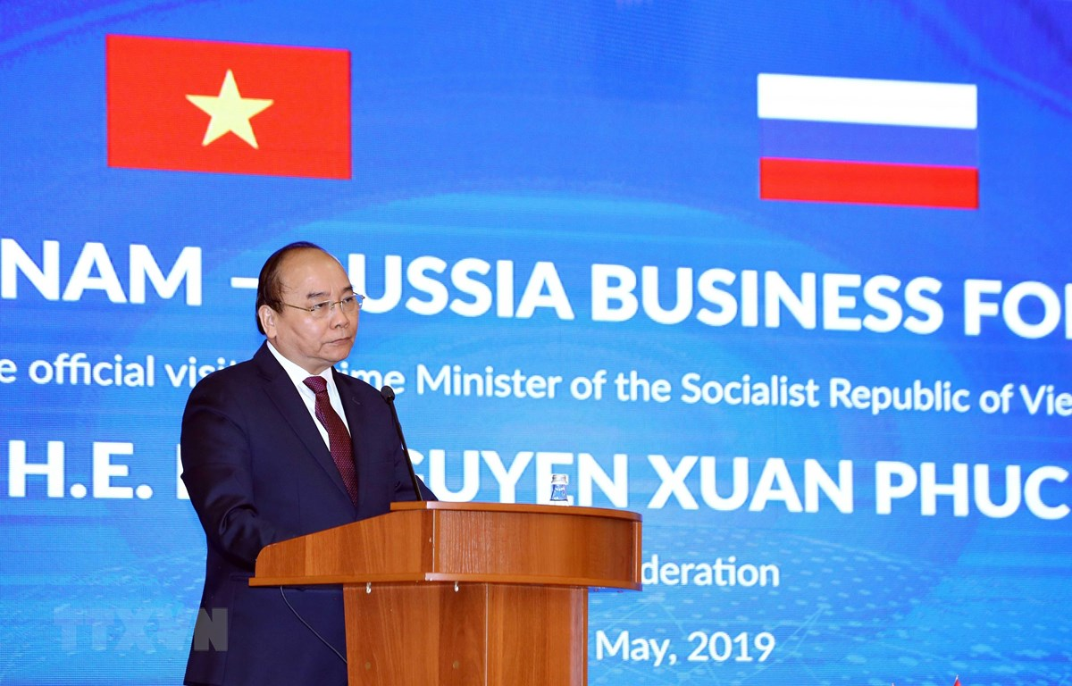 Thủ tướng Nguyễn Xuân Phúc phát biểu tại diễn đàn. (Ảnh: Thống Nhất/TTXVN)