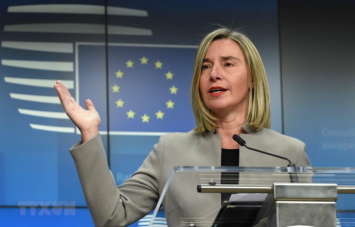 Đại diện cấp cao về an ninh và về đối ngoại của EU Federica Mogherini. (Ảnh: AFP/ TTXVN)