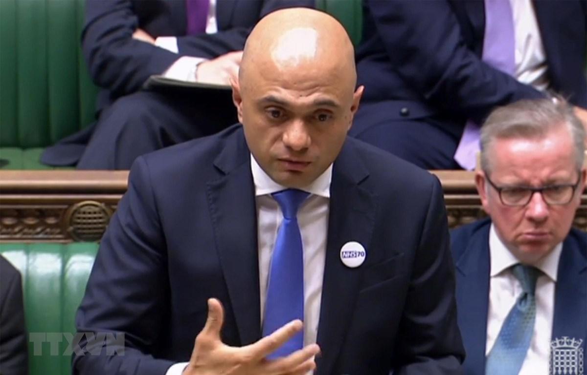 Bộ trưởng Nội vụ Anh Sajid Javid. (Ảnh: AFP/ TTXVN)