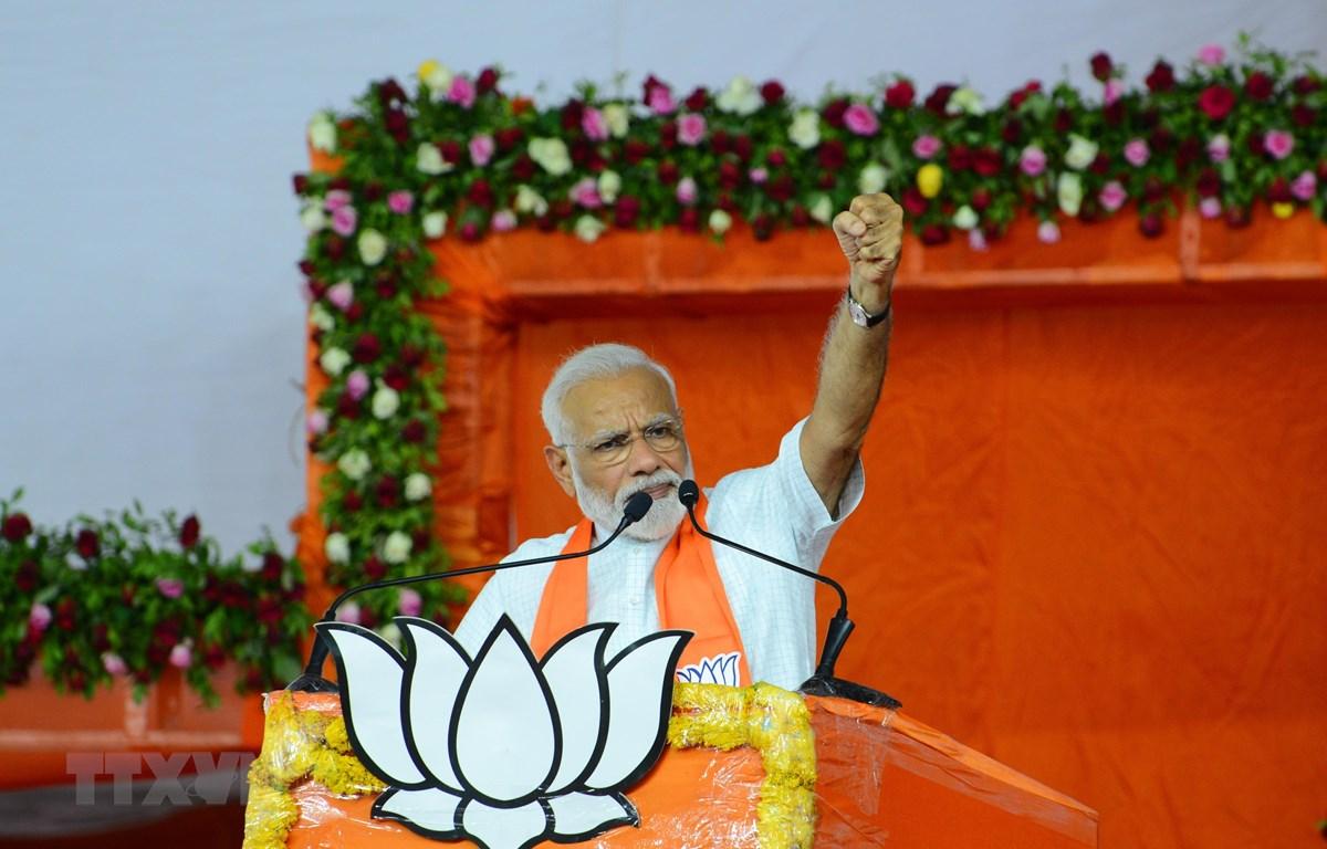 Thủ tướng Ấn Độ Narendra Modi phát biểu tại Ahmedabad ngày 26/5/2019. (Ảnh: AFP/TTXVN)