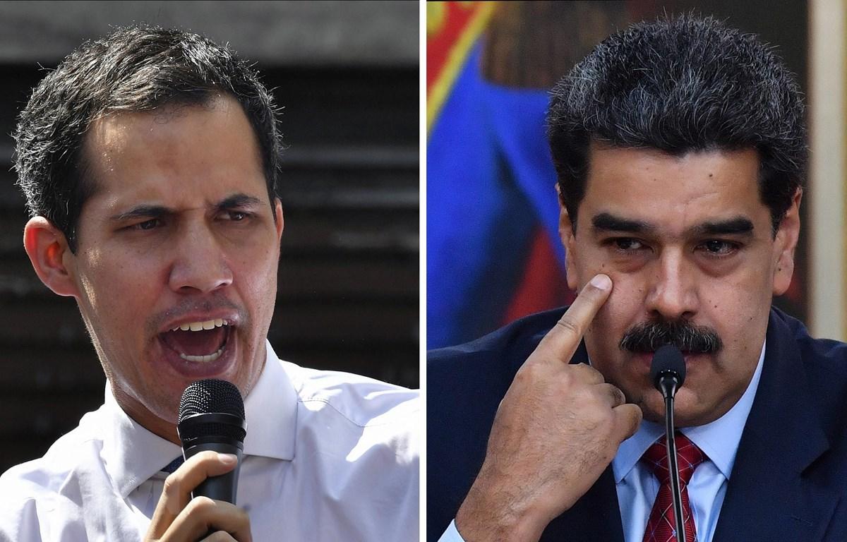 Tổng thống Venezuela Nicolas Maduro (phải) và thủ lĩnh phe đối lập Juan Guaido (trái). (Ảnh: AFP/TTXVN)