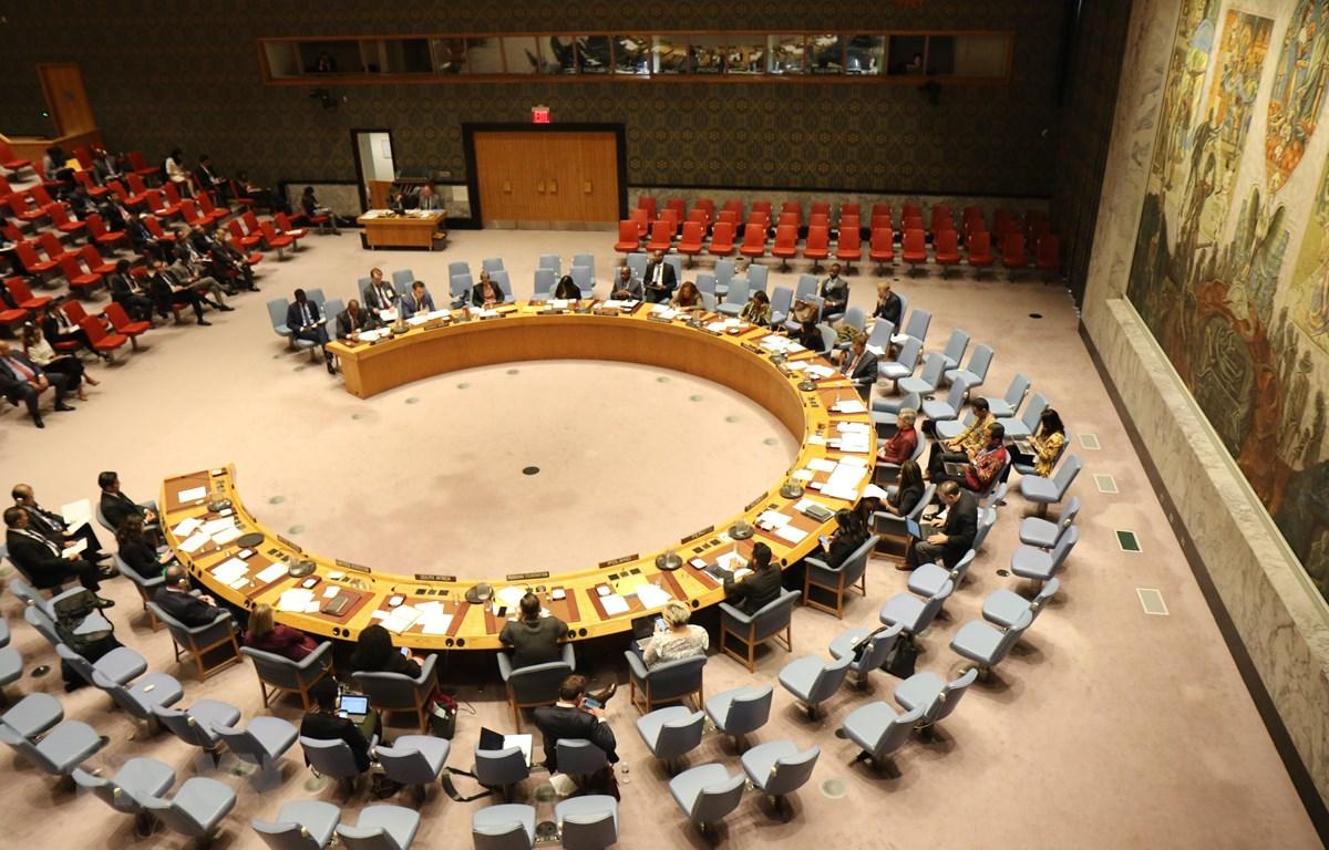 Một phiên họp của Hội đồng Bảo an LHQ. (Ảnh: Hữu Thanh/TTXVN)