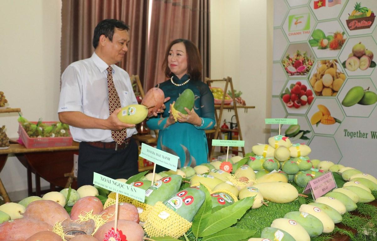 Sản phẩm xoài xuất khẩu của tỉnh An Giang. (Ảnh: Công Mạo/TTXVN)
